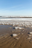Ice at Baltic sea coast. Stock Photo