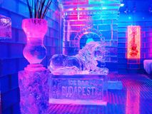 Ice bar Budapest / Jegbar Budapest Stock Photography