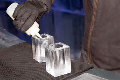 Ice bar drinks Royalty Free Stock Photography
