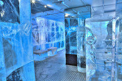 Ice bar interior royalty free stock photos