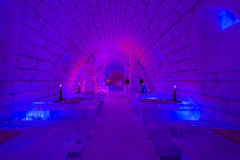 Ice bar in Lainio snow village in Yllasjarvi, Finl Stock Image
