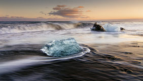Ice on the beach Stock Image