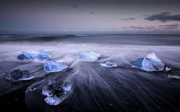 Ice on the beach Royalty Free Stock Image