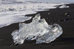 Ice Beach at Jokulsarlon glacier lagoon in Iceland stock photos