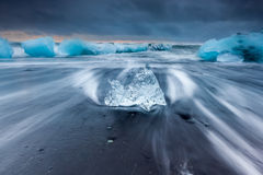 Ice beach at jokulsarlon, Iceland Royalty Free Stock Photography