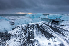 Ice beach at jokulsarlon, Iceland. Stock Images
