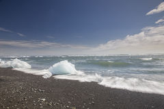 Ice Beach at Jokulsarlon Royalty Free Stock Photography