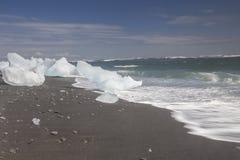 Ice Beach at Jokulsarlon Royalty Free Stock Photos