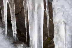 Ice. Beautiful detail of austere winter stock photo
