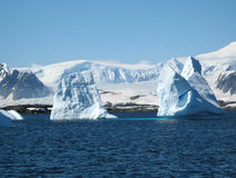 Ice berg. Big ice berg in antarctica Royalty Free Stock Images