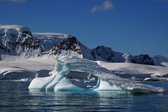 Ice berg antarctica. Ice berg in front of glaciers on the Antarctic peninsula royalty free stock image