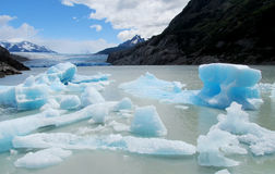 Ice berg floating in water Stock Photo