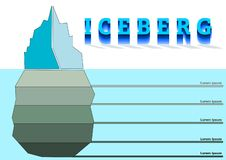 Ice berg illustration stock illustration
