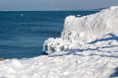 Ice bergs on Lake MIchigan Royalty Free Stock Photography