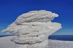 Ice bird and snow, at high altitude. Winter mountain landscape - Ciucas Mountains, landmark attraction in Romania  Stock Photography