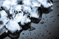 Ice on black background Royalty Free Stock Image