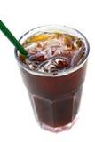 Ice black coffee , americano. Delicious ice coffee americano on wood table stock photography