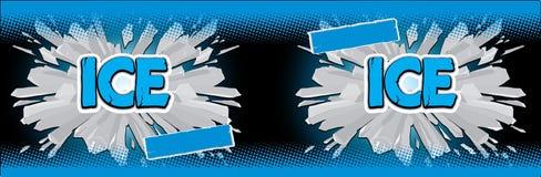 Ice black label. Label for a soft drink vector illustration
