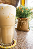 Ice blend caramel coffee. royalty free stock photo