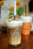 Ice blended caramel coffee Royalty Free Stock Photos