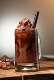 Ice Blended Chocolate. A cup of ice blended chocolate stock image