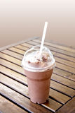 Ice blended chocolate on the table Stock Photos