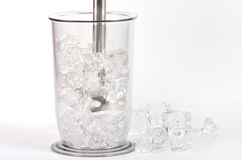Ice in a blender. Ice in a electric blender stock images