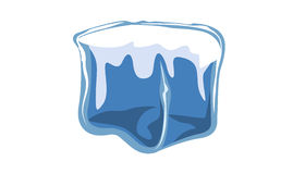 Ice block icon vector illustration of frozen block Stock Images