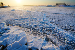 The ice block on the river. The photo was taken in Wusong island Ulla manchu town Longtan district Jilin city Liaoning provence,China Royalty Free Stock Photography