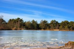 Ice blocks. A landscape view of a nature domain in winter Stock Image