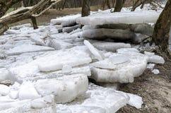 Ice blocks Royalty Free Stock Photography