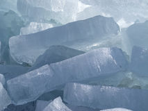 Ice blocks. Blue ice blocks at the seashore Stock Images