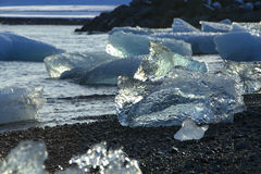 Ice blocks at glacier lagoon Jokulsarlon, Iceland Stock Images