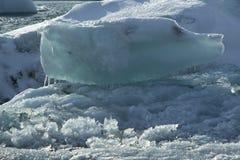 Ice blocks at glacier lagoon Jokulsarlon, Iceland Royalty Free Stock Photo
