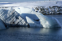 Ice blocks at glacier lagoon Jokulsarlon, Iceland Royalty Free Stock Photography