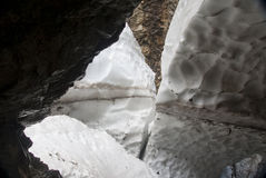 Ice blocks. Hiking through the Bavarian Alps of Southern Germany Royalty Free Stock Photo