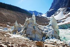 Ice blocks and Ice lake Royalty Free Stock Photo