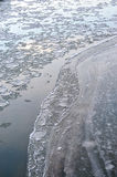Ice blocks in river Royalty Free Stock Photos