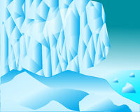 Ice blocks and snow expanses of sea Royalty Free Stock Photos
