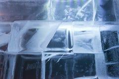 Ice blocks wall Royalty Free Stock Photo