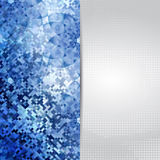 Ice blue card or invitation template. Royalty Free Stock Photography