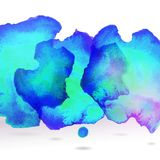 Ice blue centered decorative watercolor background Stock Photos