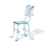 Ice blue chair Royalty Free Stock Photo