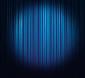 Ice-blue curtain Stock Image