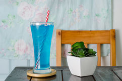 Ice blue drink Royalty Free Stock Image
