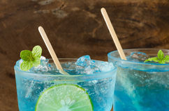 Ice blue drink Royalty Free Stock Photos