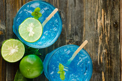 Ice blue drink Stock Images