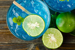 Ice blue drink Royalty Free Stock Images