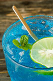 Ice blue drink Royalty Free Stock Photography