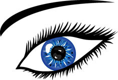 Ice Blue Eye with lashes Stock Photos
